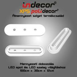 Mennyezeti XPS dobozolás LED világításnak (MD-1-30-O) kerekített ( 30x100cm)