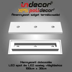 Mennyezeti XPS dobozolás spot világításnak, LED szalagnak( 30x100cm)(MD-1-30)