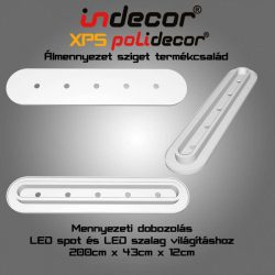 Mennyezeti XPS dobozolás LED világításnak (MD-2-43-O) (43x200cm)kerekített