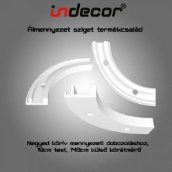 Mennyezeti XPS dobozolás spot világításnak, LED szalagnak, negyedkörív( 19x9x70cm)(MD-NK-19)