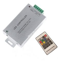 RGB (színváltós) vezérlő, Led szalaghoz Rádiófrekvenciás, fényerőszabályzós távirányító.(144Watt)