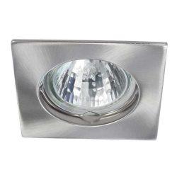 Beépíthető spot lámpatest  NAVI szatén/ nikkel ( négyzet alakú)