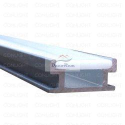 1m Lépésálló Alumínium LED Profil, matt fedővel (1 méter)