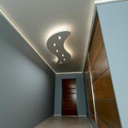 Hullám-2 XPS álmennyezet (210x70 cm)szett LED világítással (H-210x70-F)