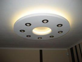 Kör 100cm süllyesztett álmennyezet Led világítással szabályozható fényerejű spottal (K-100-FS)