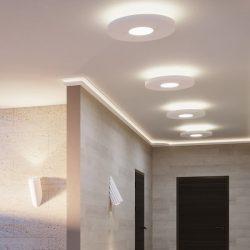 Kör 50 cm-es  álmennyezetsziget Ledszalaggal, 12W-os LED panellel (K-50-LP-12)