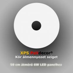 Kör 50 cm-es álmennyezetsziget Ledszalaggal, 6W-os LED panellel (K-50-LP-6)