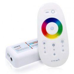 Érintésérzékeny RF RGBW+(hideg-meleg fehér) LED vezérlő 12V/24V LED szalaghoz single (elemet nem tartalmaz)