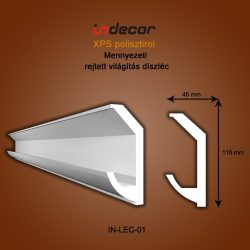 Mennyezeti profil - rejtett világításnak ( 110x45mm ) Léc-01