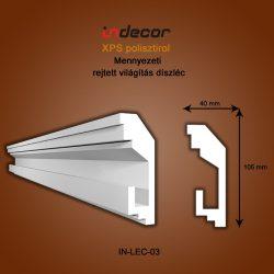 Mennyezeti profil - rejtett világításnak (105x40mm) Léc-03
