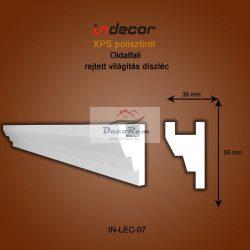 Profil Oldalfalra - rejtett világításnak (55x35mm) Léc-07