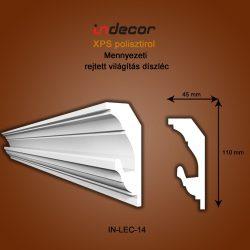 Mennyezeti profil - rejtett világításnak (110x45)  Léc-14