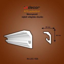 Mennyezeti profil - rejtett világításnak( 60x40mm) Léc-15/b