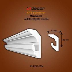 Mennyezeti profil - rejtett világításnak( 80x50mm) ( Léc-17/a)