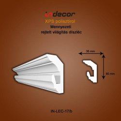 Mennyezeti profil - rejtett világításnak( 60x35mm) Léc-17/b