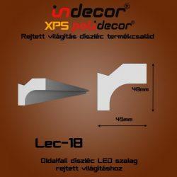 Profil Oldalfalra - rejtett világításnak (45x40mm) Léc-18