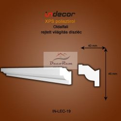 Profil Oldalfalra - rejtett világítás (45x40mm) Léc-19