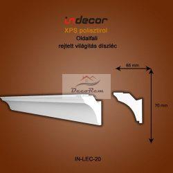 Profil Oldalfalra - rejtett világítás (70x65) Léc-20