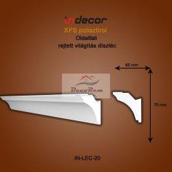 Profil Oldalfalra - rejtett világítás (70x65mm) Léc-20
