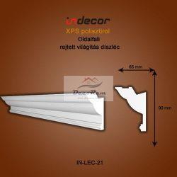 Profil Oldalfalra - rejtett világítás (90x65mm) Léc-21