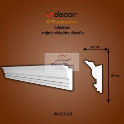 Profil Oldalfalra - rejtett világítás( 95x50) Léc-22