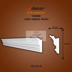 Profil Oldalfalra - rejtett világítás( 95x50mm) Léc-22