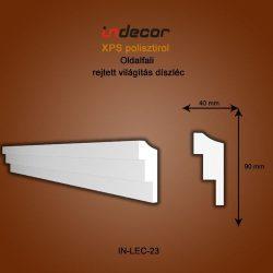 Profil oldalfalra- rejtett világítás díszléc (90x40mm)  Léc-23