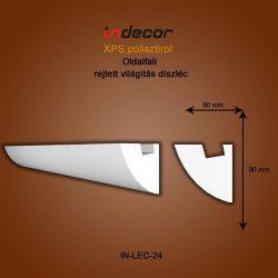 Profil oldalfalra- rejtett világítás díszléc (90x90)  Léc-24