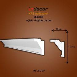 Profil oldalfalra- rejtett világítás díszléc (110x85mm)  Léc-27