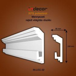 Mennyezeti profil - rejtett világításnak (230x85cm) Léc-32