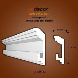 Mennyezeti profil - rejtett világításnak (230x85mm) Léc-32