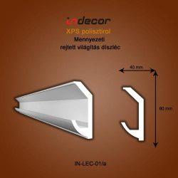 Mennyezeti profil - rejtett világításnak 80x40mm Léc-01/a