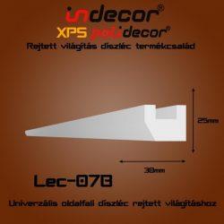 Univerzális oldalfali rejtett világítás díszléc (25x30mm) Léc-07B
