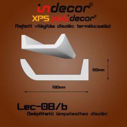 Profil Oldalfalra - LED spot és rejtett világításnak (190x60) Léc-08-B