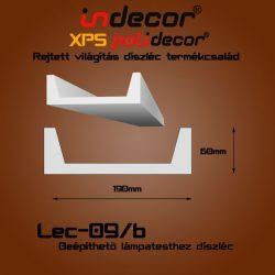 Profil Oldalfalra - LED spot és rejtett világításnak (190x60mm) Léc-09-B