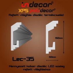 Mennyezeti profil - rejtett világításnak( 160x60mm) Léc-35