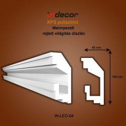 Mennyezeti profil- rejtett világításnak (100x45mm) Léc-04