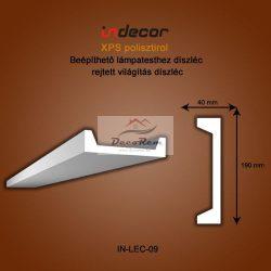 Profil Oldalfalra - LED spot és rejtett világításnak (190x40) Léc-09