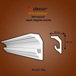 Mennyezeti profil - rejtett világításnak (80x50mm) Léc-15/a