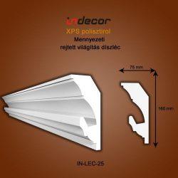 Mennyezeti profil- rejtett világításnak (160x75mm)  Léc-25