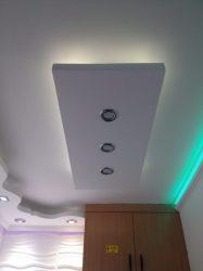 Mennyezeti dobozolás 43 x 100 cm LED világítással (MD-1-43-F)