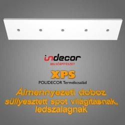 Mennyezeti dobozolás 43 x 200 cm LED világítással (MD-2-43-F)