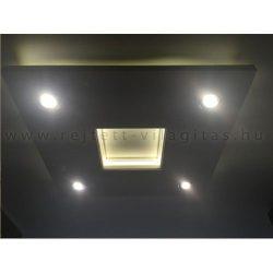 Négyzet süllyesztett álmennyezet Led világítással, szabályozható fényerejű spottal (N-100-FS)