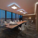 NÉGYZET (120x120cm) Süllyesztett szett, LED panel világítással (48W) (N-120-LP-F)