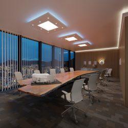 NÉGYZET (120x120cm) Süllyesztett szett, LED panel világítással (45W) (N-120-LP-F)