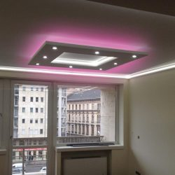 NÉGYZET (150x150cm) Süllyesztett szett,RGB  LED világítással (RGB)(N-150-RGB)