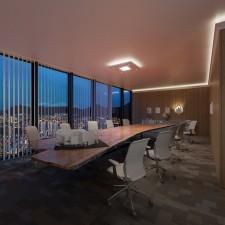 NÉGYZET (90x90cm) Süllyesztett szett, LED panel világítással (16W)(N-90-LP-F)