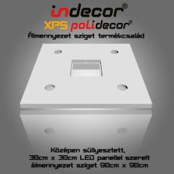 90cm négyzet álmennyezet sziget LED panel világításhoz