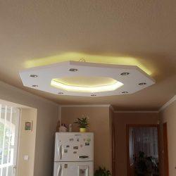 Nyolcszög alakú süllyesztett XPS  szett LED világítással (150x150cm)(NY-150-F)