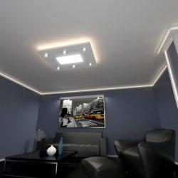 TÉGLALAP (120x90cm) Süllyesztett szett, LED panel világítással (24W)(T-120x90-LP-F)